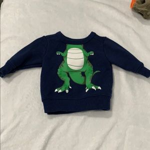 Carters Dino sweater - 3 mos - worn for 3 hours